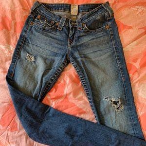 True Religion Low Rise Skinny Jeans